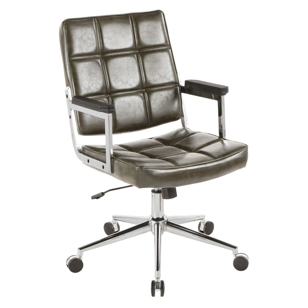 Bureau Contemporary Office Chair Green - LumiSource