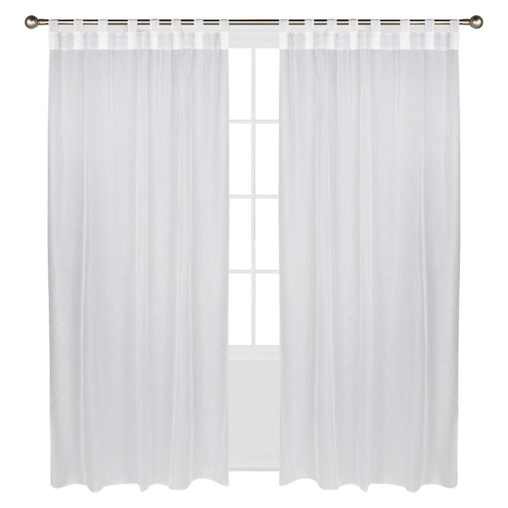 Outdoor Décor Escape Hook & Loop Indoor/Outdoor Curtain Panel - White (54