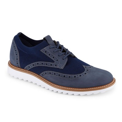 Dockers Mens Hawking Knit/Leather SMART SERIES Dress Casual Wingtip Oxford Shoe with NeverWet