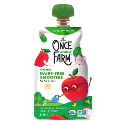 Once Upon A Farm Organic Dairy-Free Go-Go Greens Kids Smoothie - 4oz