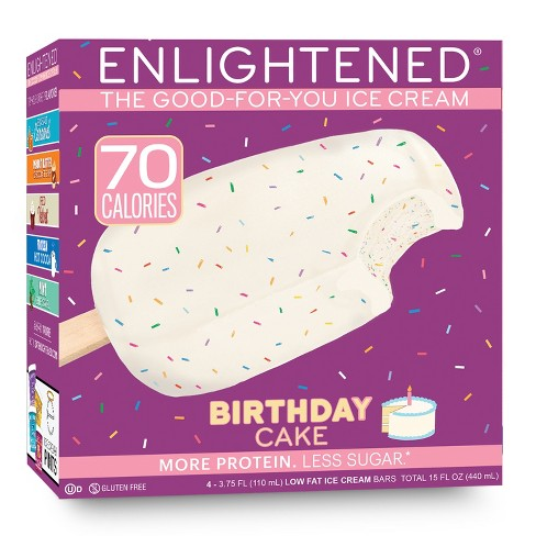 Enlightened Birthday Cake Ice Cream Bar - 4pk - image 1 of 1