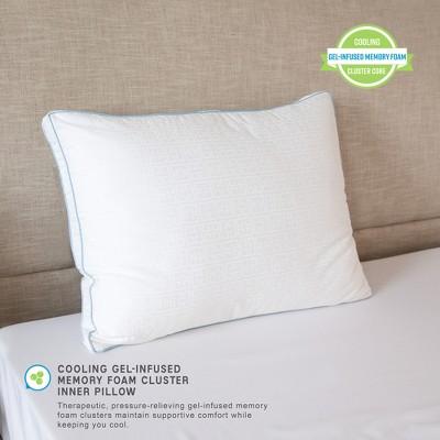 SensorPEDIC Gel Core Gel-Infused Memory Foam Clusters and Gel Fiber Jumbo Bed Pillow