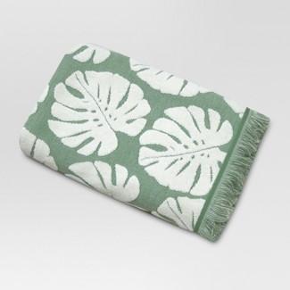 Palm Leaf Bath Towels Cream/Green - Threshold™