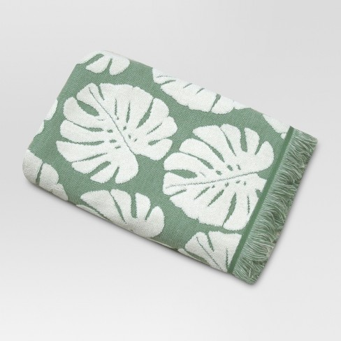 Palm Leaf Towels Cream/Green - Threshold™ - image 1 of 1