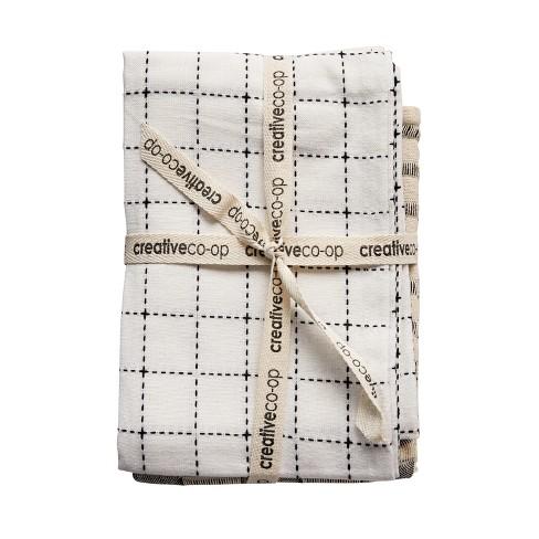 Cotton Tea Towels Set of 3 - White/Blue - 3R Studios - image 1 of 2