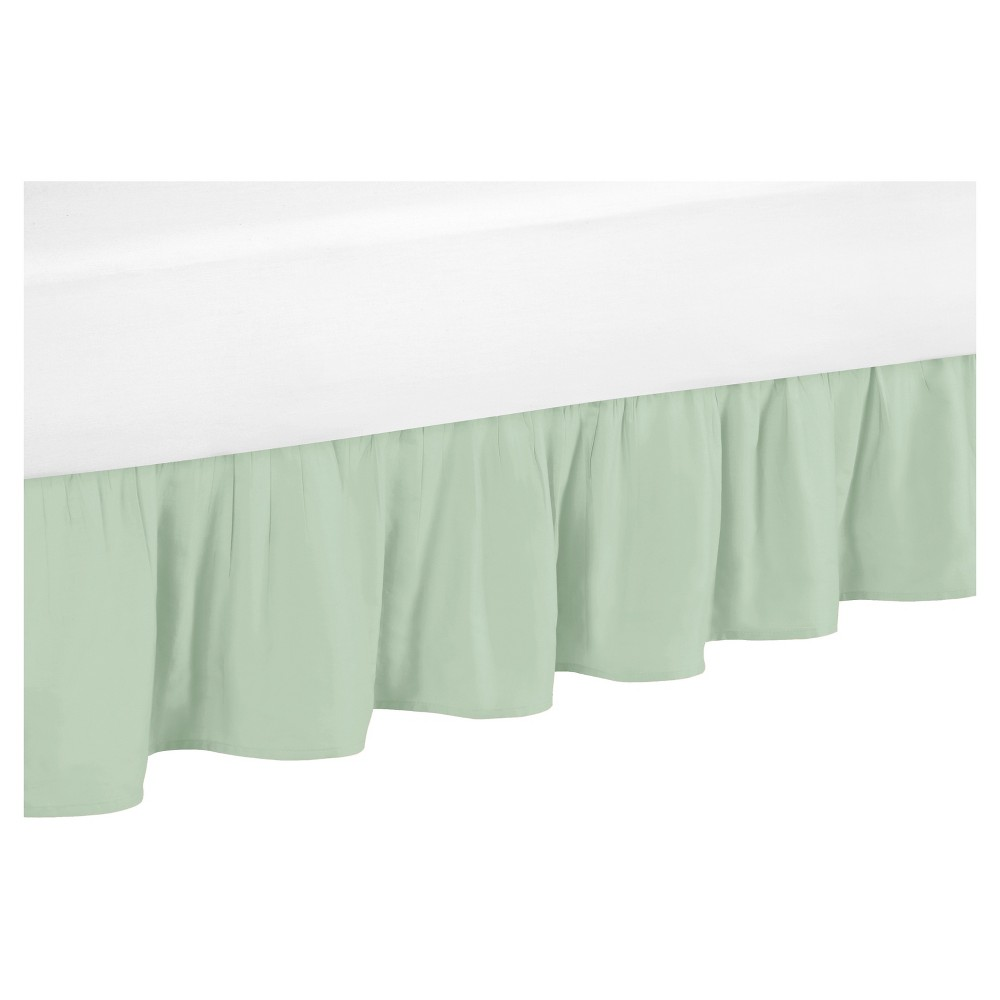 Image of Bed Skirt Green - Sweet Jojo Designs, Blue