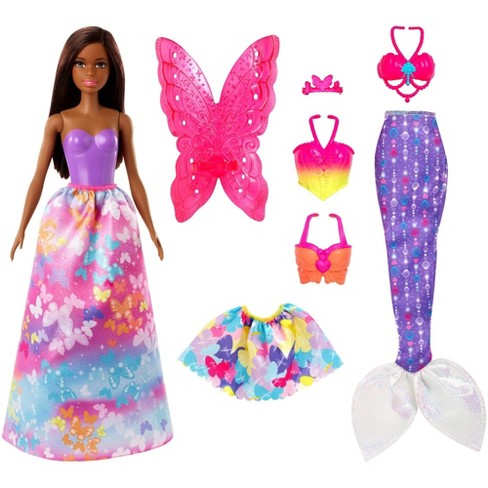 Barbie Dreamtopia Dress Up Brunette Doll Giftset - image 1 of 4
