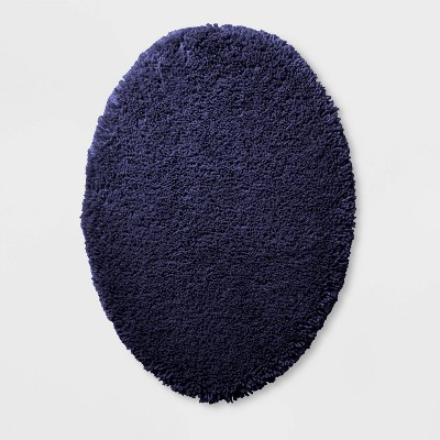 Performance Solid Toilet Lid Cover Navy - Threshold™