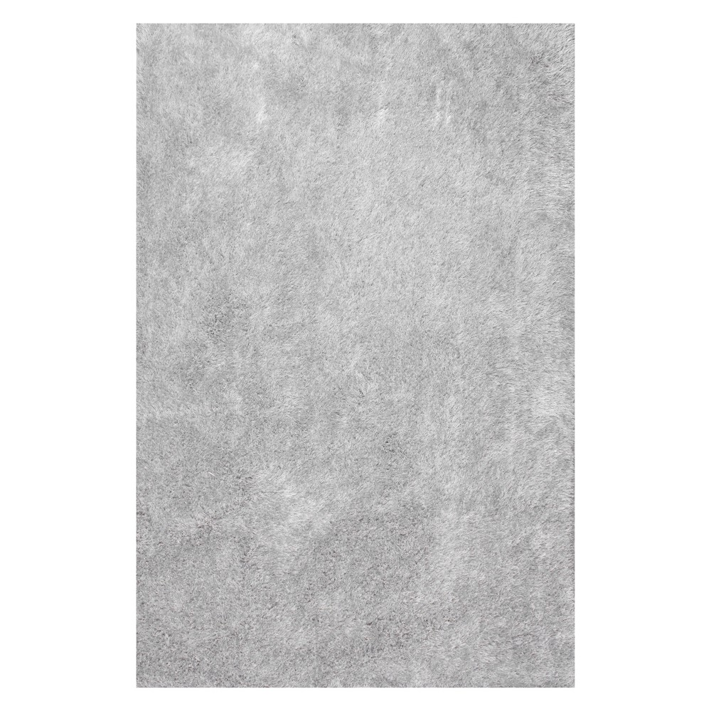 Silver Solid Tufted Area Rug 4'X6' - nuLOOM