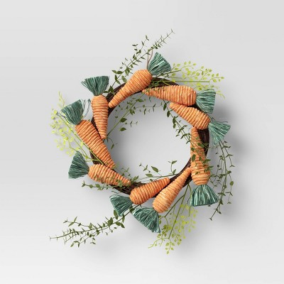 "19"" Artificial Carrot Wreath - Opalhouse™"