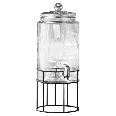 Style Setter® Artesia 250oz Glass Beverage Dispenser with Metal Stand - image 1 of 1