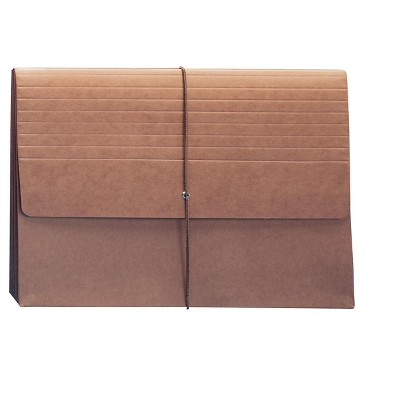 """Smead Extra Wide File Pocket 5.25"""" Expansion 12.36"""" x 10"""" Size Redrope 517326"""