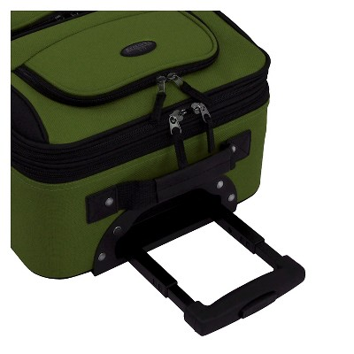 U.S. Traveler Rio 2pc Expandable Carry On Luggage Set - Green, Size: Small