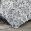Annalise Floral Duvet Cover Set Gray - Laura Ashley - image 4 of 4