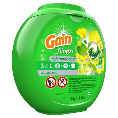 Gain flings! Laundry Detergent Pacs Original - 81ct