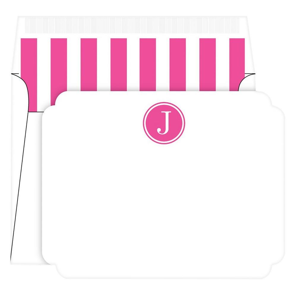 Die-Cut Social Set Preppy Stripe Monogram - J