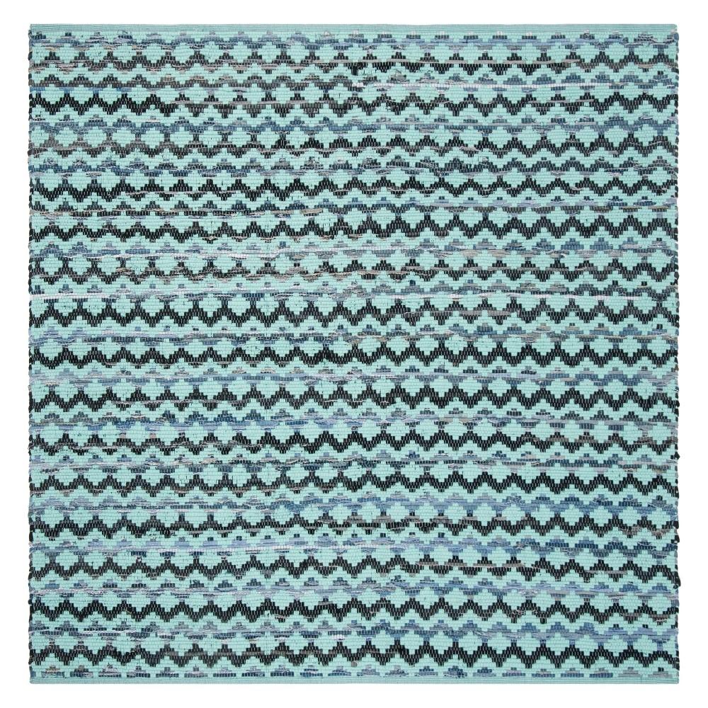 6X6 Geometric Woven Square Area Rug Turquoise/Blue/Black - Safavieh Discounts
