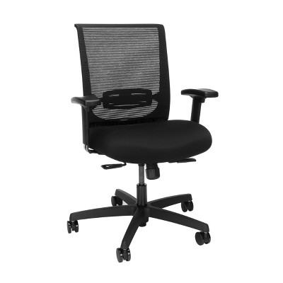 Convergence Mesh Back Task Chair with Arms Adjustable Black - HON
