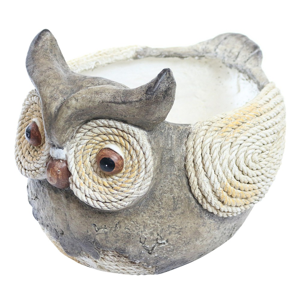Image of 12 Novelty Resin Owl Rope Planter - Alpine Corporation, Multi-Colored