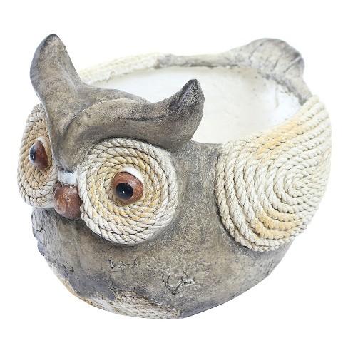 "12"" Novelty Resin Owl Rope Planter - Alpine Corporation - image 1 of 2"