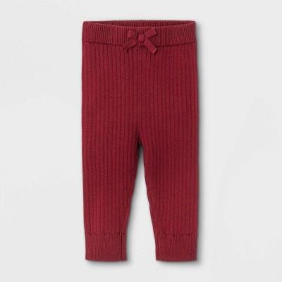 Baby Rib Knit Sweater Leggings - Cat & Jack™ Maroon 3-6M