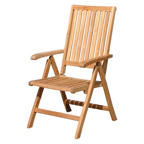 Teak Heritage Outdoor Chair - Natural Finish - Courtyard Casual - image 1 of 4