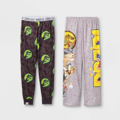 Boys' LEGO Jurassic World 2pk Pajama Pants - Gray/Brown