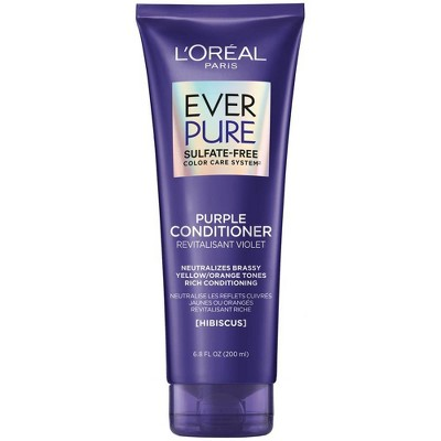 L'Oreal Paris EverPure Sulfate Free Purple Conditioner for Colored Hair -  6.8oz