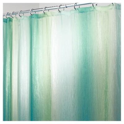 Shower Curtain Interdesign Ombre Design Blue Green
