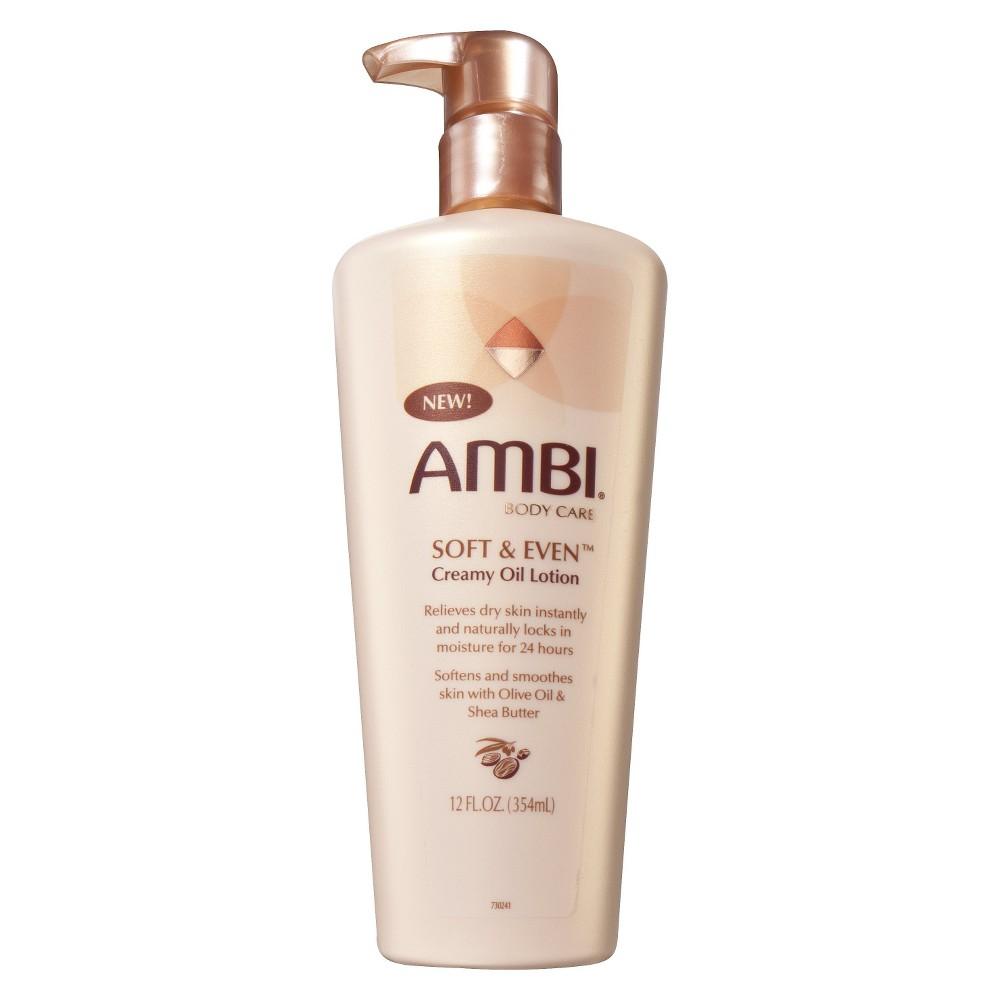 Ambi Soft & Even Creamy Oil Lotion - 12 oz, Beige