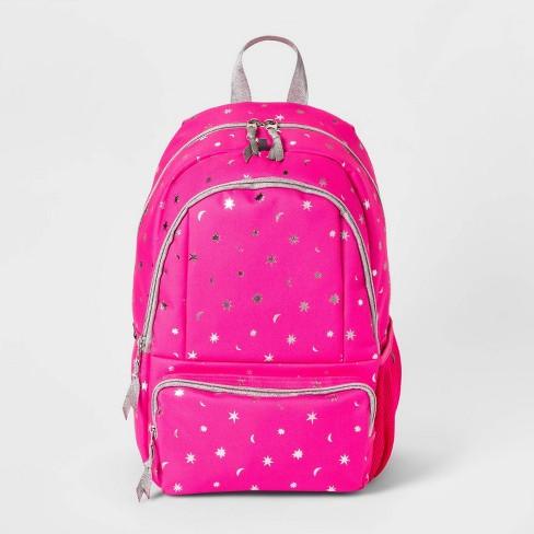 """17"""" Foil Print Kids' Backpack Pink/Silver - Cat & Jack™ - image 1 of 2"""
