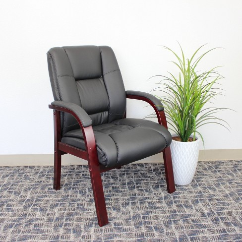 Wood Finished Guest Chairs Black