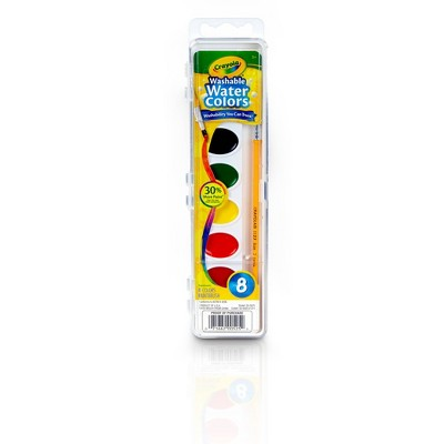 Crayola® Watercolor Paints with Brush Washable 8ct