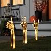 3ct LED Lighted Skeleton Hands Halloween Novelty Path Lights White - Hyde & EEK! Boutique™ - image 2 of 3