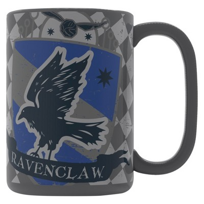 Harry Potter 15oz Ceramic Ravenclaw Mug Gray/Blue - Zak Designs