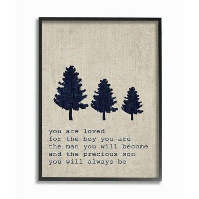"""16""""x1.5""""x20"""" You Are Loved Son Trees Oversized Framed Giclee Texturized Art - Stupell Industries"""