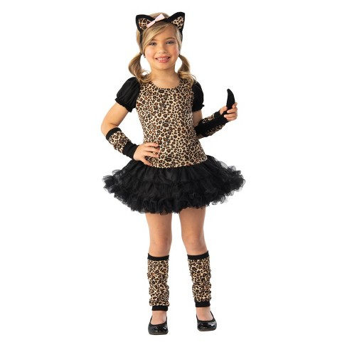 Girls' Little Leopard Halloween Costume - image 1 of 1