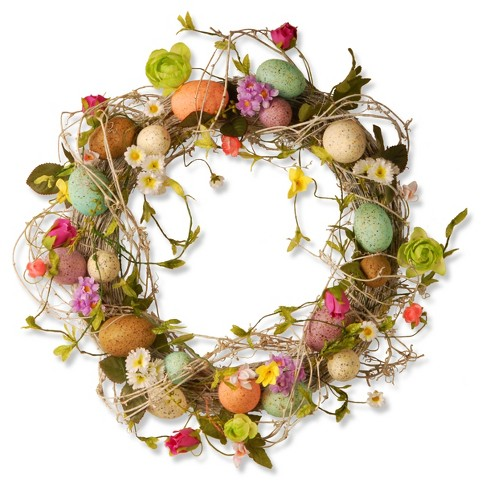 """18"""" Garden Accents Easter Egg Wreath - National Tree Company - image 1 of 3"""