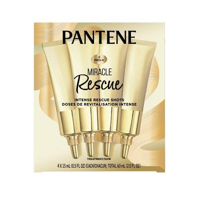 Pantene 4ct Miracle Intense Rescue Shots Dry Hair Treatment - 0.5 fl oz