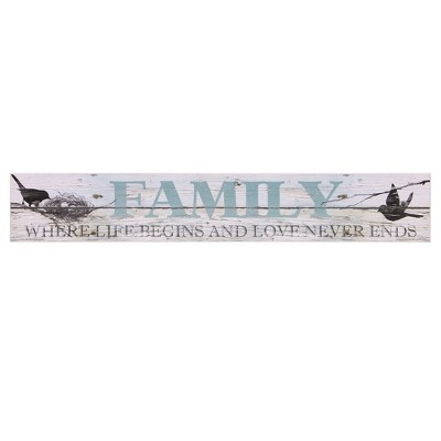 6 x36  Sentimental Family Wood Wall Art White - Patton Wall Decor