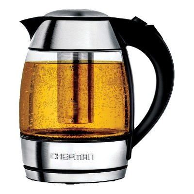 Chefman Electric Glass Kettle with Tea Infuser 1.8 L. - Light Silver RJ11-17-TI