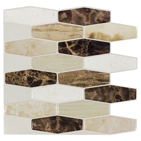 Decor 5 Pack Peel & Stick Mosaic Tile - Stone Forest Long Hex - image 1 of 5