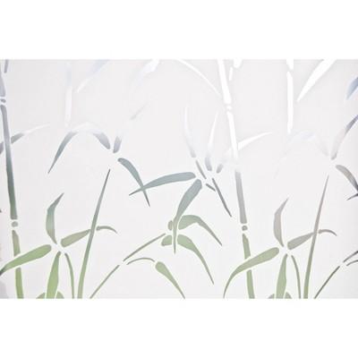 Brewster Bamboo Door Privacy Film Medium Clear