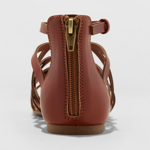 e524e771e3b Women s Kerri Gladiator Sandals - Universal Thread™ Cognac 5   Target