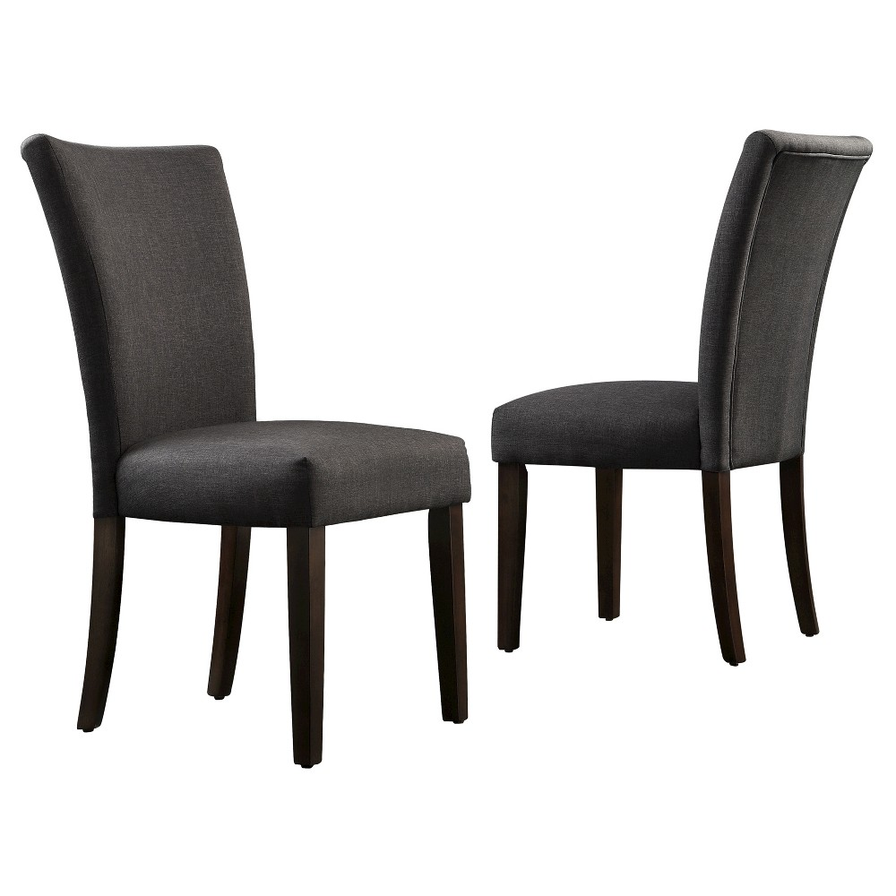 Quinby Parson Dining Chair Wood/Charcoal (Grey) (Set of 2) - Inspire Q