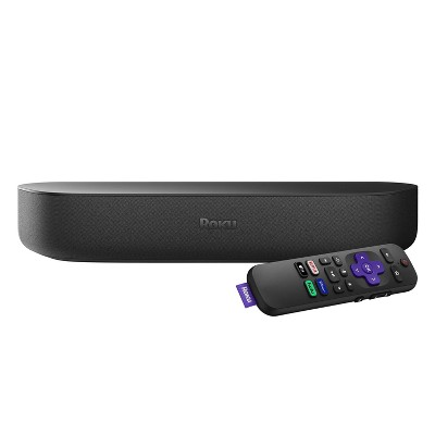 Roku Streambar | HD/4K/HDR Streaming Media Player & Premium Audio, All in One, and Voice Remote with TV controls
