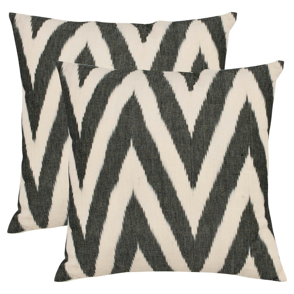 Black Set Throw Pillow (22
