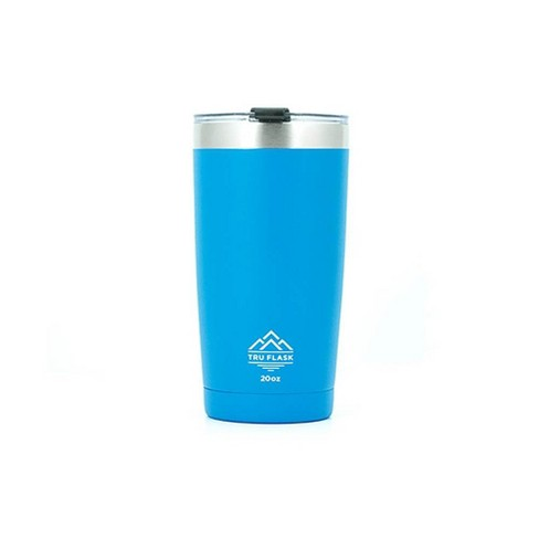 TruFlask 20 oz Double-Wall Insulated Stainless Steel Travel Tumbler, Blue - image 1 of 1