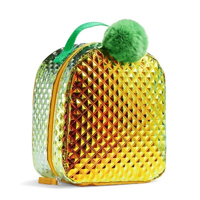 Fit & Fresh Kids' Pineapple Lunch Bag - Gold with Green Pom Pom