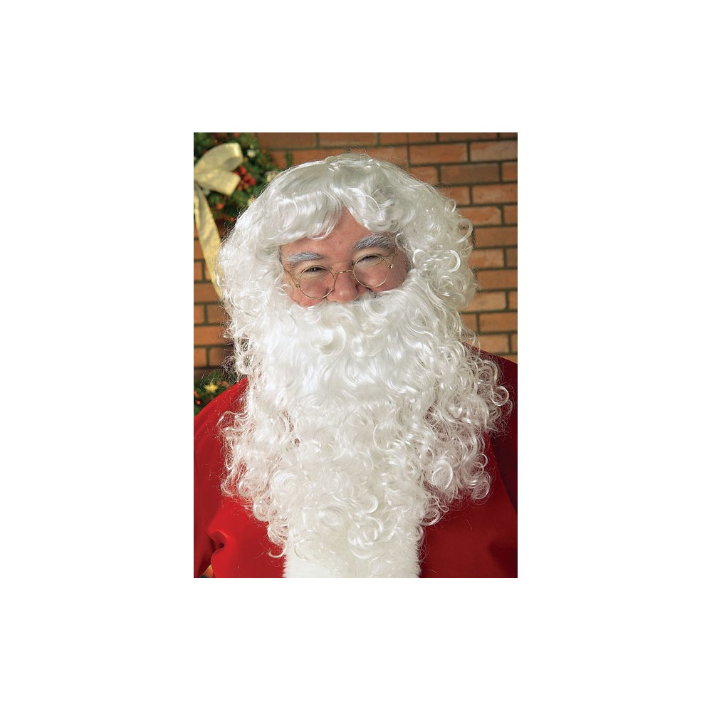 Image of Halloween Adult Santa Costume Beard & Wig Set, Men's, White
